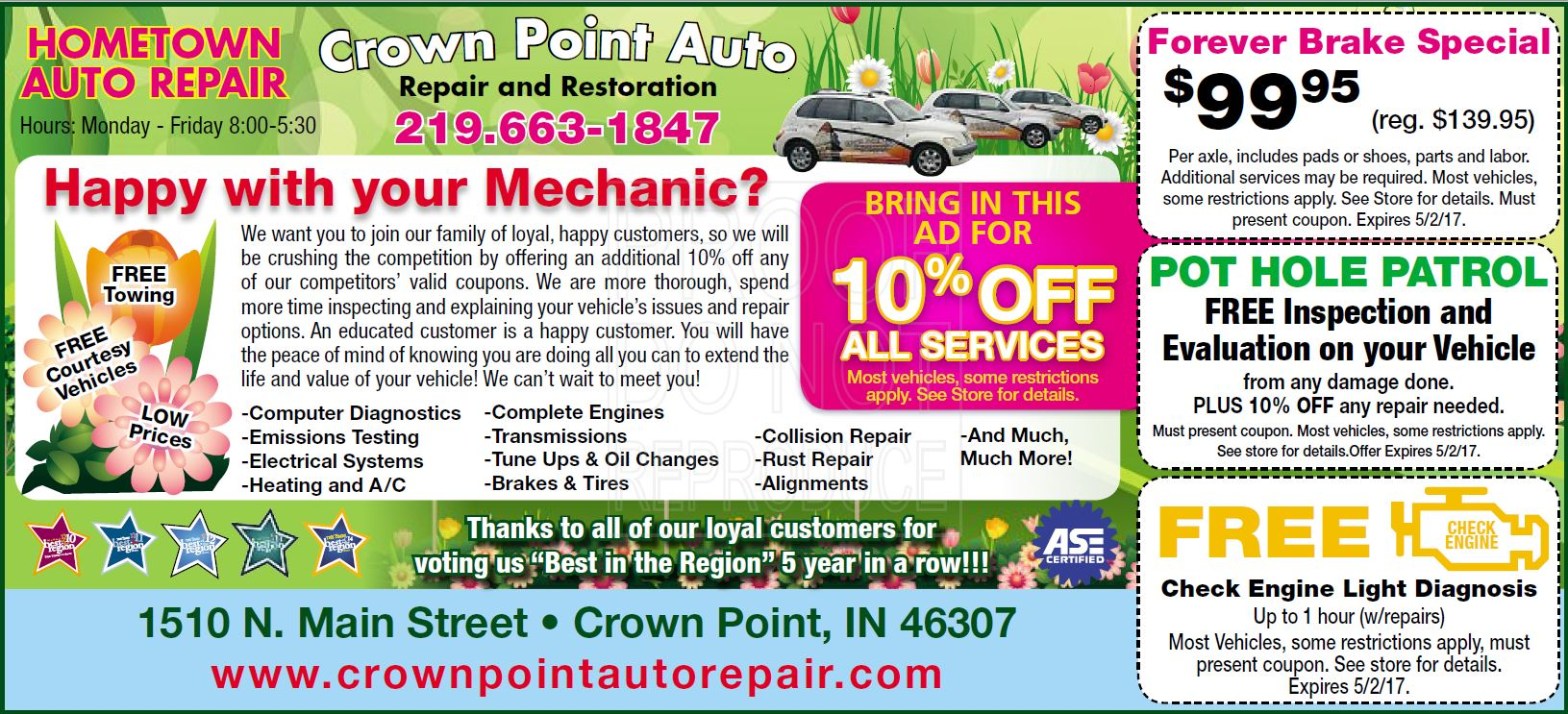 Times Crown point auto