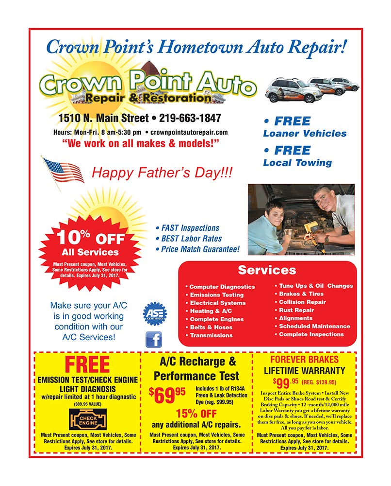 Family Flyer Crown Point Auto June 2017