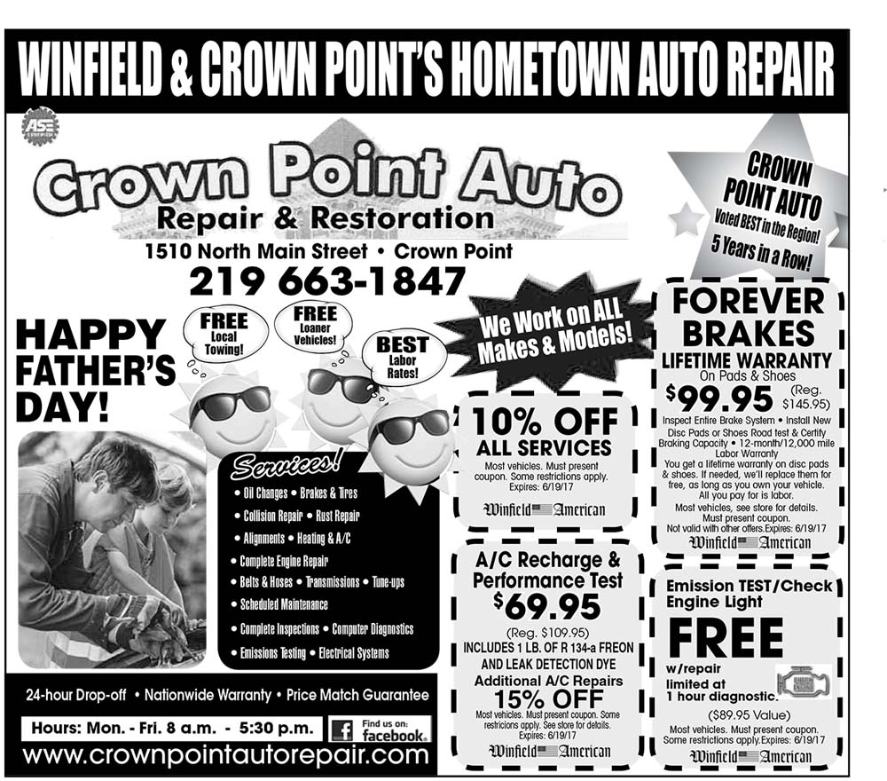 Winfield Ad Crown Point Auto June 2017