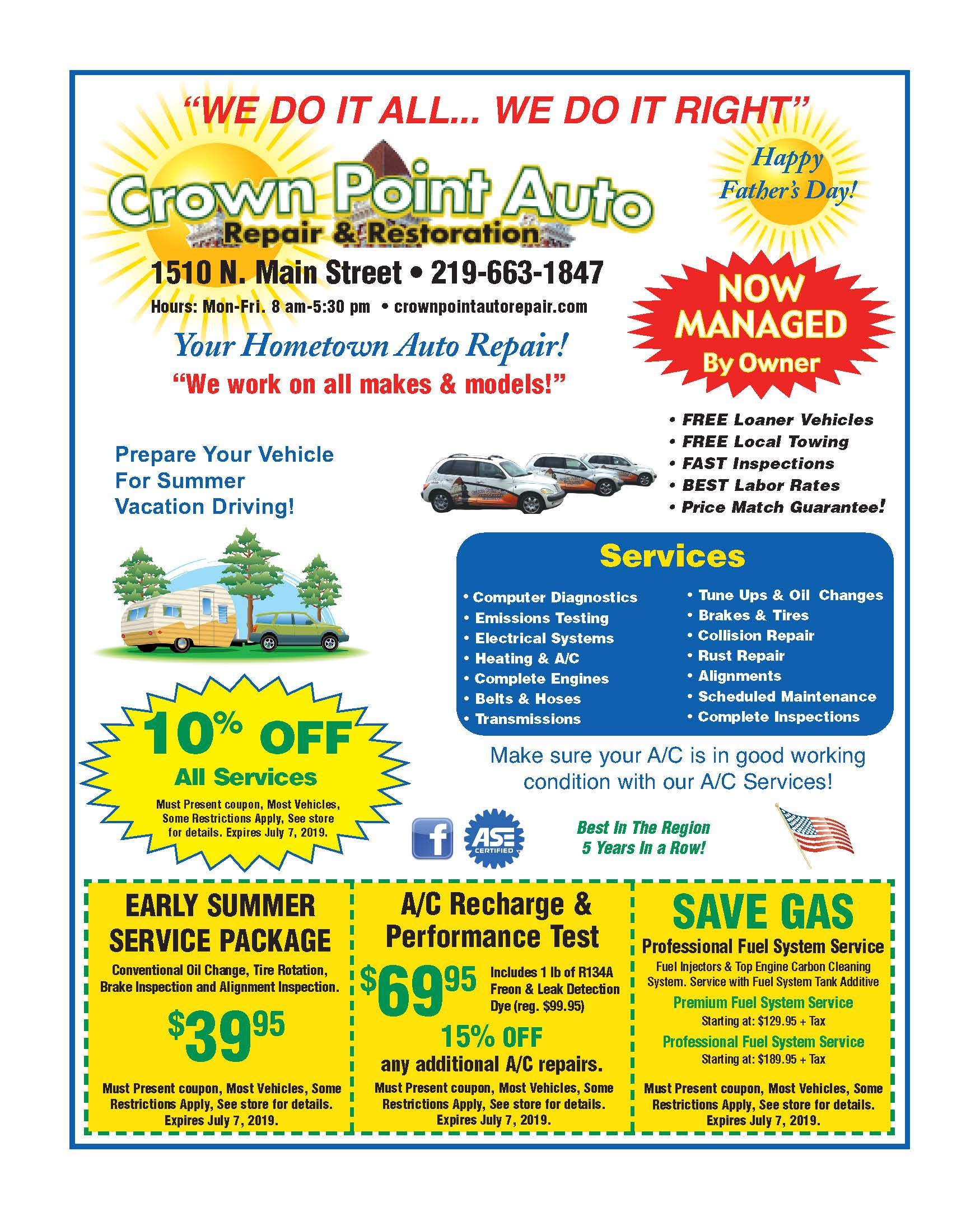 Family Flyer Crown Point Auto